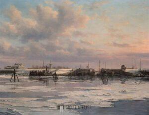 Sluis bij Zoutkamp vanaf zee - Peter Sterkenburg