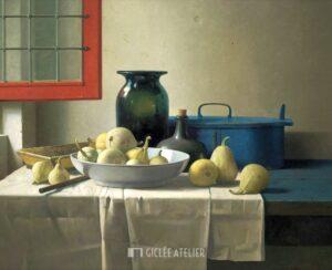 Stilleven met open raam (Rembrandts atelier) - Henk Helmantel