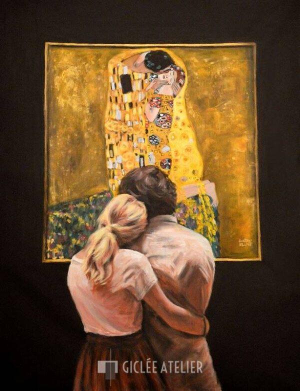 Watching Klimt The Kiss - Escha van den Bogerd