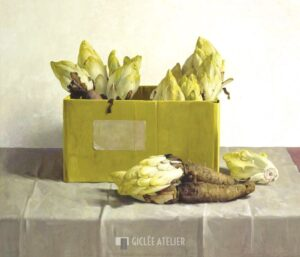 Witlof in gele doos - Henk Helmantel