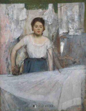 De Strijkster - Edgar Degas - gicleekunst