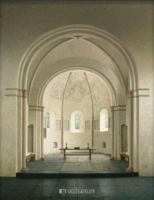 De absis van de romaanse kerk in Bozum - Henk Helmantel