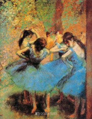 De blauwe danseressen - Edgar Degas