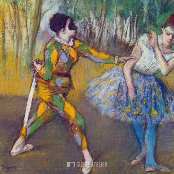 Harlekijn en Columbine - Edgar Degas - gicleekunst