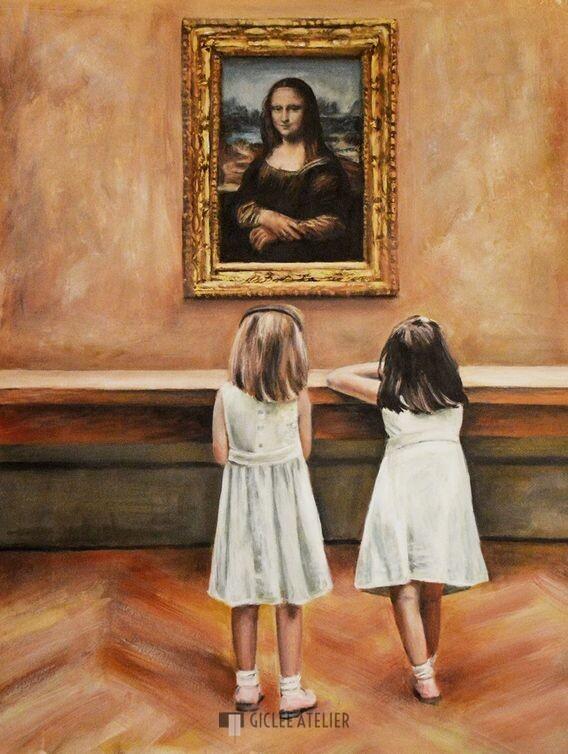 Watching Mona Lisa - Escha van den Bogerd