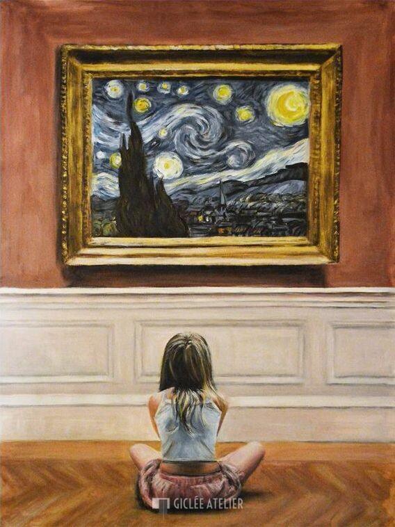 Watching van Gogh Starry Night I - Escha van den Bogerd