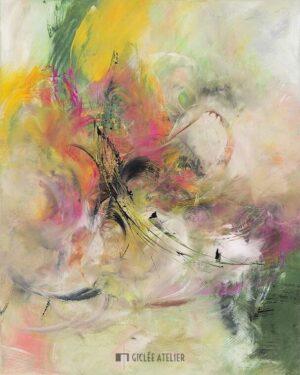 Bloemenparadijs - Christiane Middendorf - gicleekunst