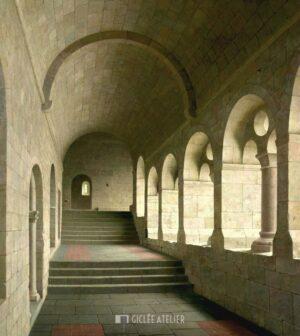 Kloostergang van de Abdij van le Thoronet - Helmantel - gicleekunst