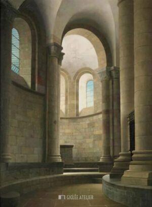 Kooromgang van de kerk in Conques - Henk Helmantel - gicleekunst