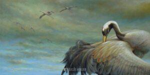 Kraanvogel - Erik van Ommen - gicleekunst