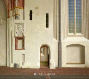 Noordmuur van de Nicolaikerk in Appingedam - Henk Helmantel - gicleekunst