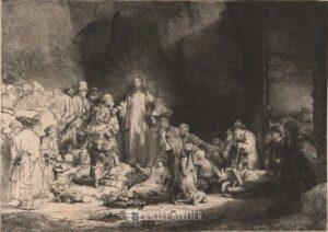 Honderd gulden prent - Rembrandt van Rijn - gicleekunst