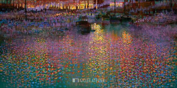 November Sunset - Ton Dubbeldam - gicleekunst