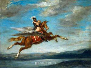 Roger en Angelique - Eugene Delacroix - gicleekunst