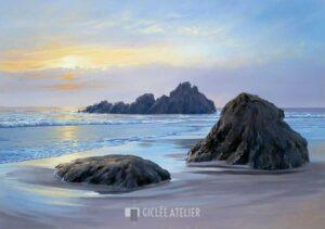 Sunset at Big Sur - Sigurd Schneider - gicleekunst