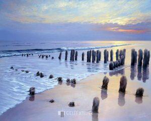 Sunset at Ostsee coast I - Sigurd Schneider - gicleekunst