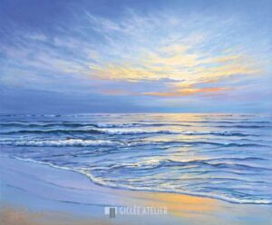 Sunset at Ostsee coast II - Sigurd Schneider - gicleekunst