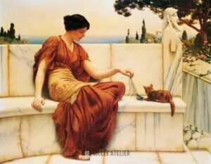 The Favourite - John Godward - gicleekunst