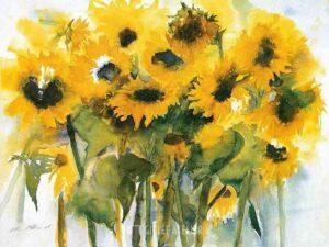 Veld met zonnebloemen - Christa Ohland - gicleekunst