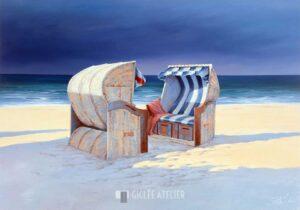 Beach Chairs I - Sigurd Schneider - gicleekunst