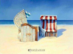 Beach Chairs II - Sigurd Schneider - gicleekunst