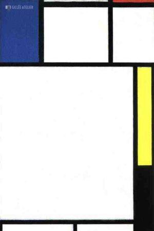 Compositie met blauw, rood en geel - Piet Mondriaan - gicleekunst