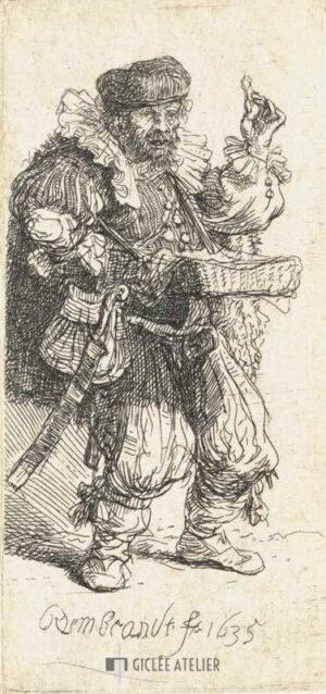 De kwakzalver - Rembrandt van Rijn - gicleekunst