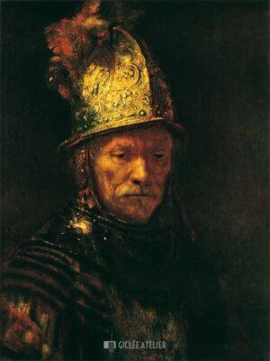 De man met de gouden helm - Rembrandt van Rijn - gicleekunst