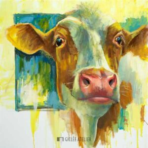 Roodbonte koe - Theo Onnes - gicleekunst