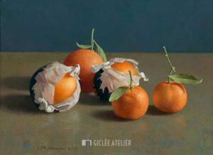 Sinaasappels en mandarijnen - Henk Helmantel - gicleekunst
