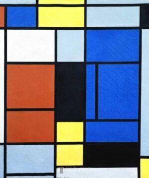 Tableau No 1 - Piet Mondriaan - gicleekunst