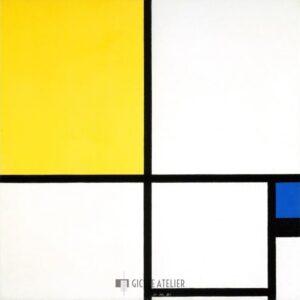 Compositie met blauw en geel - Piet Mondriaan - gicleekunst