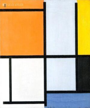 1921 compositie - Piet Mondriaan - gicleekunst