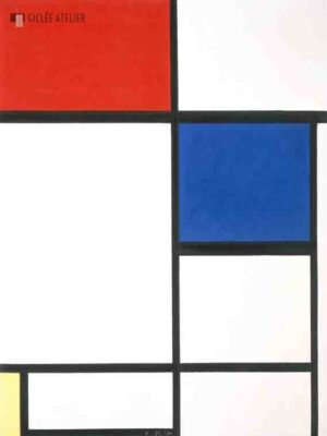 Compositie II met rood, blauw en geel - Piet Mondriaan - gicleekunst