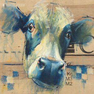 Zwartbonte koe - Theo Onnes - gicleekunst