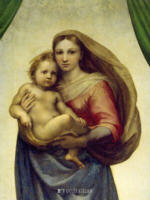 Maria met kind - Raphael - gicleekunst