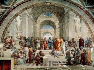 De school van Athene - Raphael - gicleekunst