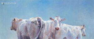 Twee koeien en een stier - Hiske Wiersma - gicleekunst