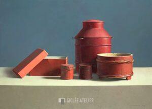 Compositie in rood - Henk Helmantel - gicleekunst