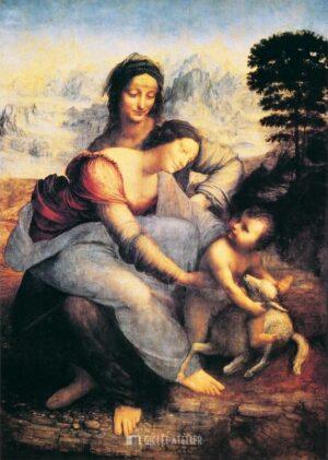 De heilige Anna - Leonardo da Vinci - gicleekunst