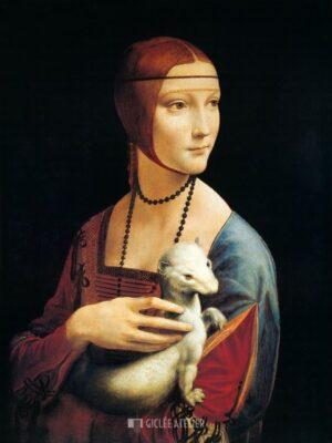De dame met de hermelijn - Leonardo da Vinci - gicleekunst